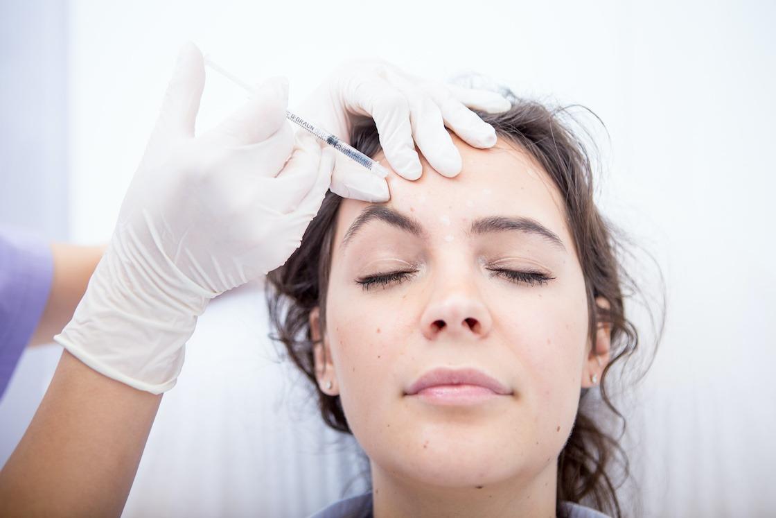 Dermal fillers - Patient having skin rejuvenation treatment